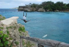 Boston Bay, Jamaica. Why paddle out to the surf when you can JUMP! Our editor shot this on a surf trip to the island.
