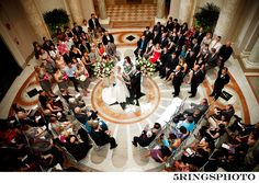 ceremony in the round - believe it or not there are about 120 guests seated in a small area