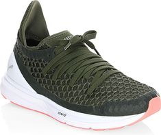 0514e4be61d PUMA Women s Shoes in Green Color. Perforated running sneakers with logo  print at back.