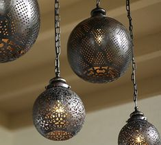 Moroccan Pendant #potterybarn - outdoor living area, or perhaps Nights of Arabia-themed boudoir?