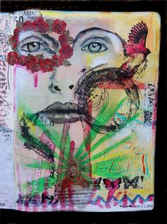 Working in an art journal This is what I am really enjoying at the moment The freedom and spontaneity that this outlet for expression a...