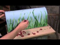 Lady Bug MailBox how to paint grass