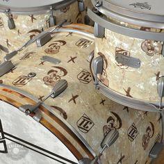 SJC Limited Edition 13/16/18/24 Tre Cool Signature 4pc Drum Kit