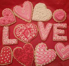Valentine's cookies by Lucyanne's Cookies