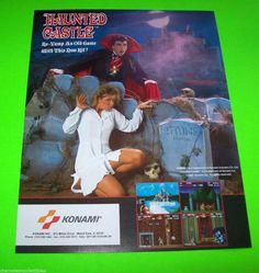HAUNTED CASTLE By KONAMI 1987 ORIGINAL NOS VIDEO ARCADE GAME PROMO SALES FLYER