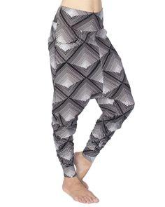 Pyramid Print Low Crotch Pants Organic Cotton