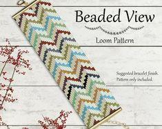 Bead Loom Pattern, Loom Bead Pattern, Loom Bracelet Pattern, Chevron Loom Pattern, Abstract Bead Pattern, Abstract Loom Beading, PDF, bd048