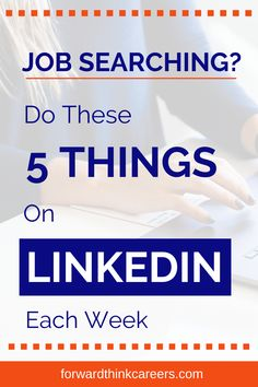 """When you're looking for a job, you might be wondering what's the best way to utilize LinkedIn. You may thinking, """"What am I supposed to post? How do I come up with content ideas? What else should I be doing to stand out as a job candidate?"""" Tap on the link to learn these 5 easy LinkedIn strategies! Finding A New Job, Looking For A Job, Career Success, Career Advice, Online Job Applications, Career Exploration, Career Options, Resume Tips, Make More Money"""
