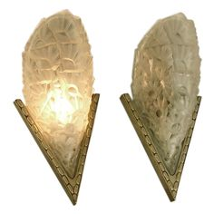 Classic French Art Deco Wall Sconces by Degue  $2300