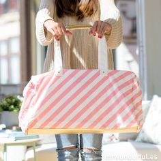 *MR. WONDERFUL    The getaway bag   Bolsa grande de tela