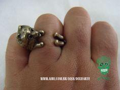 Anel Cachorrinho  www.airu.com.br/loja/dixiearte