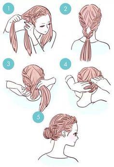 Imagen vía We Heart It https://weheartit.com/entry/162475062 #hair #hairstyle #tuto #hairtutorial