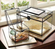 Beautiful - glass display boxes.