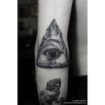 Stone Eye of Providence Tattoo