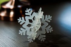 Snowflake ornament . 3D holiday decoration made by DecolorisShop