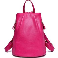 NICE Casual Quality Genuine Leather Fashion Design Women's Backpack 5 Colors