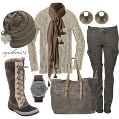 """""""Grey Sky"""" by cynthia335 on Polyvore ... Washington or what? :-) Love it!"""