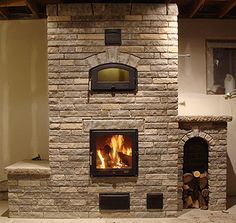 Brick Fireplace, Fireplace Design, Off Center Fireplace, Rocket Stoves, Earthship, Pergola Patio, Home Projects, Foyer, My House