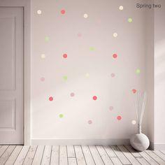 spring polka dot wall sticker set by oakdene designs | notonthehighstreet.com