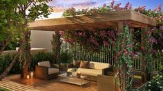 10 Awesome Pergola Designs That Will Turn Your Yard Into a Peaceful Refuge Outdoor Rooms, Outdoor Gardens, Outdoor Living, Outdoor Furniture Sets, Outdoor Decor, Balcony Furniture, Pergola With Roof, Diy Pergola, Cheap Pergola
