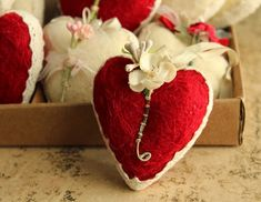 Every Valentines Day it seems I can't resist sitting down to sew up a few sweet hearts. This year I started out with a bowl of cream an...
