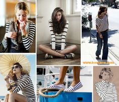stripes white navy