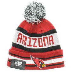 Arizona Cardinals Team Colors The Jake 3 Beanie With Pom New Era Cap eb73e0392308