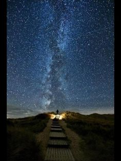"""Heavens Trail"" A place in Ireland, where every two years on June 10 to 18, the stars line up with this path."