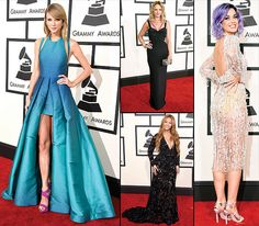 The Grammys are known for wild red carpet styles -- hey there, J.Lo! But sometimes, it's about just plain prettiness. From Taylor Swift's mermaid-blue dress to Katy Perry's sparkling mini, flip through to see our 10 favorite dresses from the 2015 Grammys, held on Feb. 8 in L.A.!