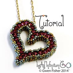 TUTORIAL Sweetheart Pendant with Beaded Cubic Right Angle Weave CRAW by gwenbeads on Etsy https://www.etsy.com/listing/187341912/tutorial-sweetheart-pendant-with-beaded