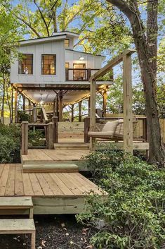 """Check out the coolest and most unique Airbnbs in Georgia, including the """"ATL Treehouse"""" pictured above. Tiny House Cabin, Cozy House, Tree House Homes, Tree House Plans, Tree House Designs, Small House Design, Wood House Design, Treehouse Cabins, Backyard Treehouse"""