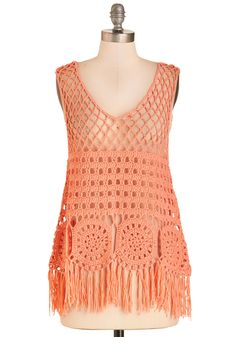 Shop the every-stylish selection of basic tops at ModCloth! Find basic tees and tank tops in classic colors and patterns. Crochet Halter Tops, Crochet Top, Boho Fashion, Fashion Outfits, Fashion Decor, Red Tank Tops, Basic Tops, Vintage Shorts, Crochet Clothes