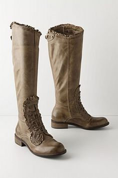 Loose rein boots, Anthropologie.  No longer available, but cool as hell.