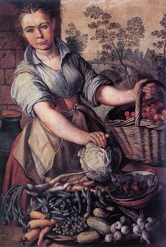 Artist	 Joachim Beuckelaer (circa 1533–1575)   Title	 English: Vegetable Seller Date	second half of 16th century
