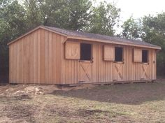 12X36 SHEDROW WITH DUTCH DOORS