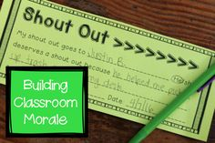 Student shout outs! Build a class family environment by using acts of kindness to lift others up!