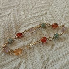 Colorful Gold Stone Bracelet Price Drop! Gold bracelet with multi-colored stones. Jewelry Bracelets