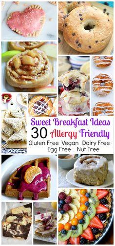Allergy Friendly Gluten Free Sweet Breakfast Treat Round Up (egg free dairy free Vegan nut free)