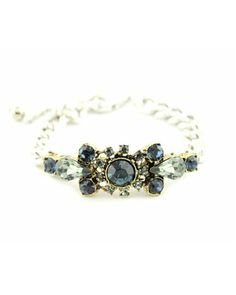 Art Deco Silver and Sapphire Bracelet - JUST GORGEOUS, OUI !!
