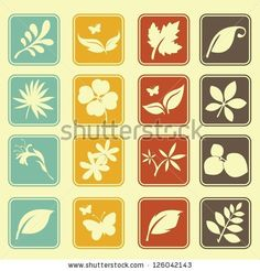 Natural Leafs Icon Set by lalilele13, via Shutterstock