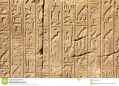 Ancient egypt hieroglyphics on wall — Stock Photo Ancient Egypt Hieroglyphics, Ancient Egypt Pyramids, Ancient Alphabets, Modern Egypt, Gods And Goddesses, Stock Photos, History, Pictures, Royalty
