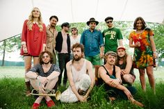 edward sharpe and the magnetic zeros at bonnaroo.. I was standing 10 feet away from this great band while 'working' bonnaroo : )