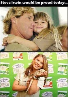 Steve Irwin's daughter