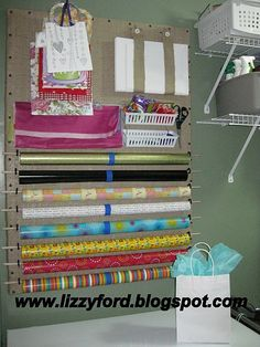 cool idea for art/craft room...already have two huge pegboards with trim
