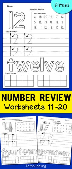 Discover recipes, home ideas, style inspiration and other ideas to try. Teaching Teen Numbers, Numbers Preschool, Learning Numbers, Writing Numbers, Math Numbers, Preschool Math, Montessori Activities, Stem Activities, Worksheet Numbers