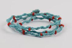 Grown-up spin on a simple friendship bracelet design