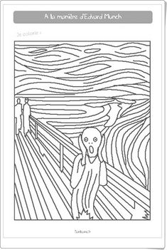 Picture of famous artists for coloring Picture thumbnail for br. Picture of famous artists for coloring Picture thumbnail for br. Picture of famous artists for coloring Colouring Pages, Coloring Sheets, Coloring Books, Free Coloring, Kids Colouring, Adult Coloring, Club D'art, Art Club, Classe D'art