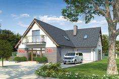 Na parterze zaprojektowano pom. usługowe o powierzchni prawie 64 m2, niewielkie zaplecze sanitarno-biurowe oraz kotłownię i garaż.