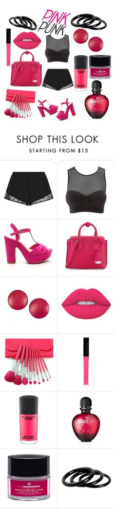 """""""pink punk"""" by niachauntel ❤ liked on Polyvore featuring Princesse tam.tam, Charlotte Russe, MCM, Charles Jourdan, Lime Crime, Butter London, MAC Cosmetics, Paco Rabanne, Ole Henriksen and Furla"""
