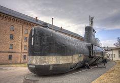 The submarine KNM Utstein outside the Royal Norwegian Navy Museum in Horten.